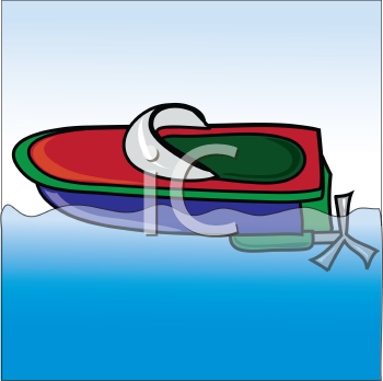 Royalty Free Clipart Image of a Toy Boat