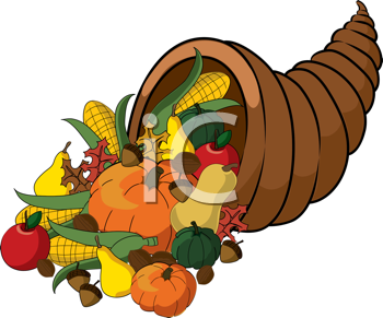 Royalty Free Clipart Image of a Cornucopia