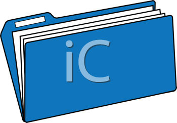 Royalty Free Clipart Image of a File Folder