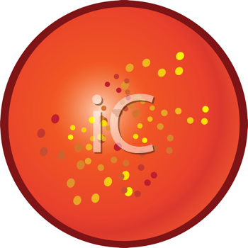 Royalty Free Clipart Image of a Speckled Button
