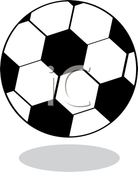 Royalty Free Clipart Image of a Cartoon Soccer Ball