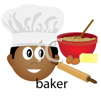 Royalty Free Clipart Image of a Baker Icon