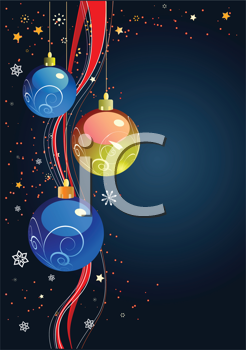 Royalty Free Clipart Image of Ornaments