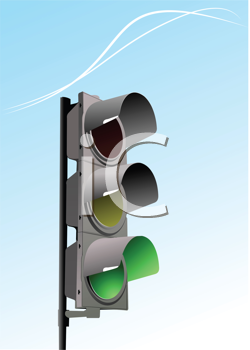 Royalty Free Clipart Image of a Traffic Light