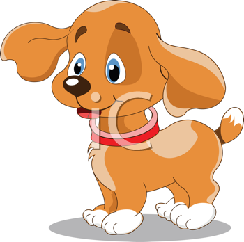 Illustration of the cute fun puppy