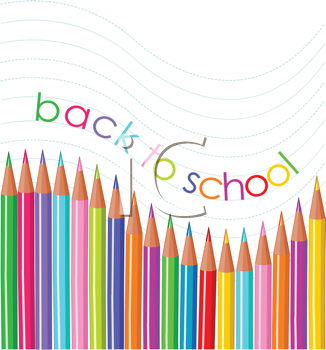 Royalty Free Clipart Image of Back to School Pencils