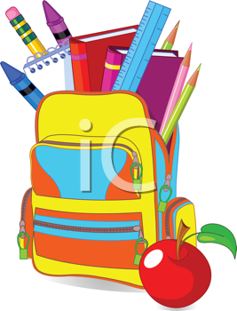 Royalty Free Clipart Image of a Bookbag