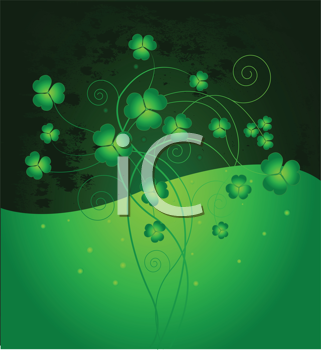 Lucky clover background for St. Patrick's Day