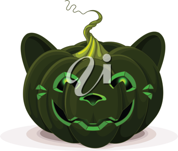 Illustration of Halloween Pumpkin Cat