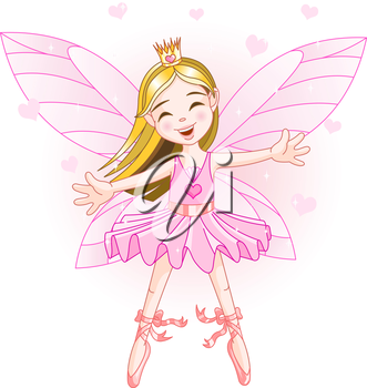 Royalty Free Clipart Image of a Ballerina Fairy
