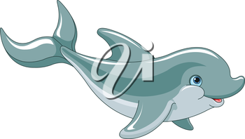 Royalty Free Clipart Image of a Dolphin