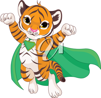 Illustration of Super Hero Tiger