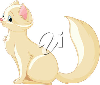Illustration of a cute kitten