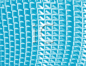 Royalty Free Clipart Image of a Light Blue Metallic Background