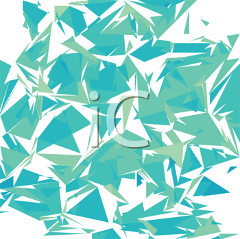 Royalty Free Clipart Image of Broken Galss on White