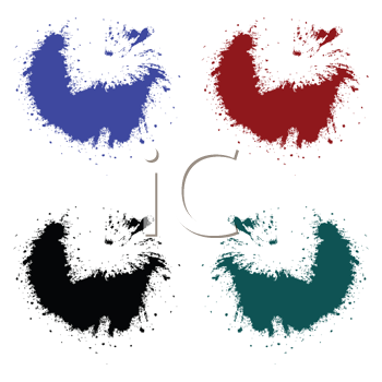 Royalty Free Clipart Image of Four Splashes