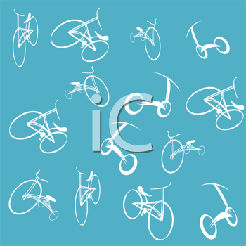 Royalty Free Clipart Image of a Bicycle Collection