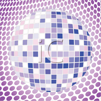 Royalty Free Clipart Image of a Disco Ball
