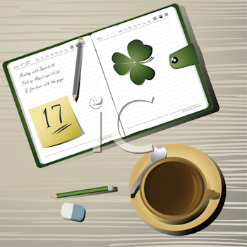 Royalty Free Clipart Image of a St. Patrick's Day Reminder