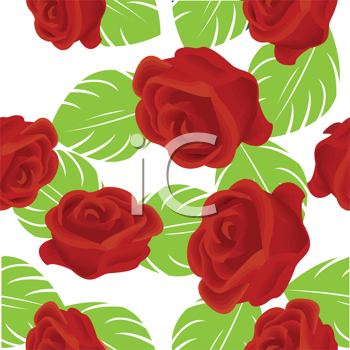 Abeautiful seamless background with roses