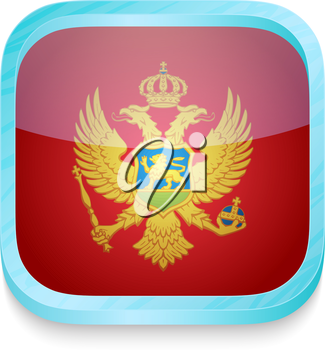 Smart phone button with Montenegro flag