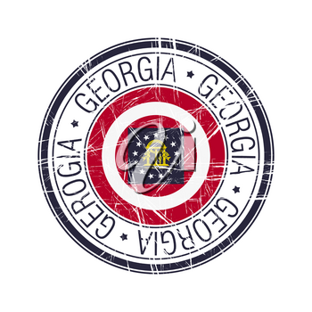 Great state of Georgia postal rubber stamp, vector object over white background
