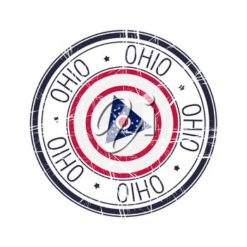 Great state of Ohio postal rubber stamp, vector object over white background