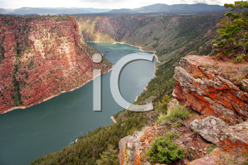 Royalty Free Photo of Flaming Gorge Reservoir, a National Recreation Area on the Green River