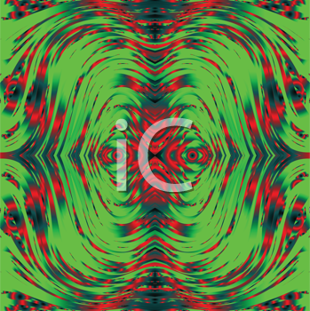 Royalty Free Clipart Image of a Green and Red Abstract Background