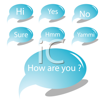 Royalty Free Clipart Image of Text Bubbles