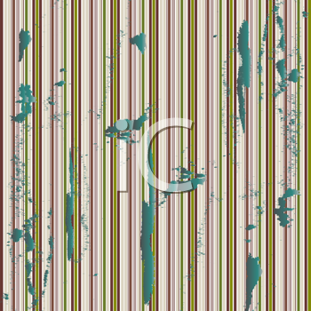 Royalty Free Clipart Image of a Green Grunge Striped Background