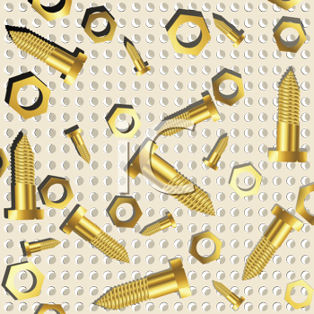 Royalty Free Clipart Image of Nuts and Bolts