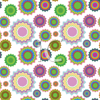Royalty Free Clipart Image of a Background With Geometric Flowers