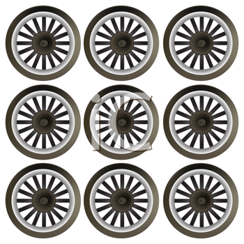 Royalty Free Clipart Image of a Wheel Background