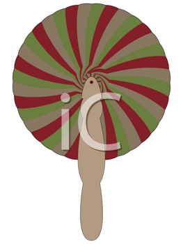 bamboo fan against white background, abstract vector art illustration