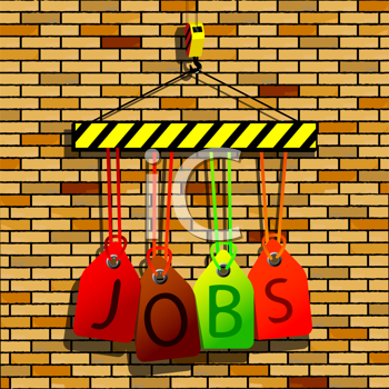 jobs under construction, abstract vector art illustration