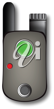 walkie talkie against white background, vector art illustration; image contains transparency