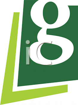 Royalty Free Clipart Image of a Lower Case G