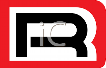Royalty Free Clipart Image of an R