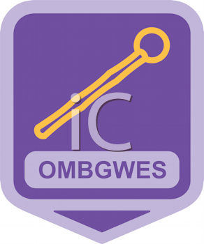Royalty Free Clipart Image of an Ombgwes Icon