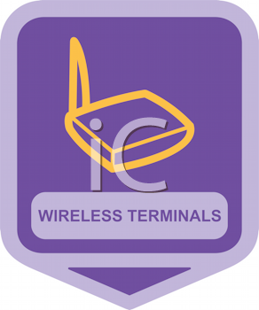 Royalty Free Clipart Image of Wireless Terminals