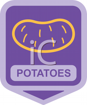 Royalty Free Clipart Image of Potatoes