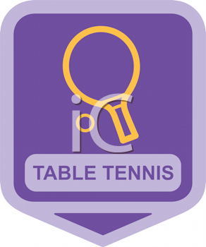 Royalty Free Clipart Image of a Table Tennis Racket