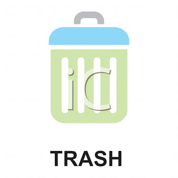 Royalty Free Clipart Image of a Trash Icon