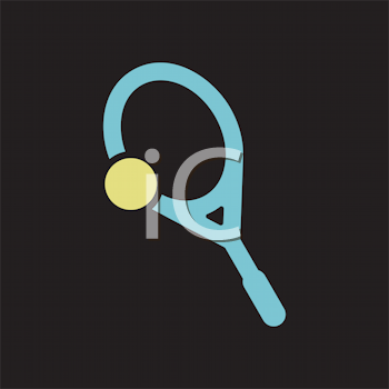 Royalty Free Clipart Image of a Tennis Racket