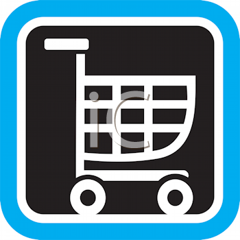 Royalty Free Clipart Image of a Shopping Cart