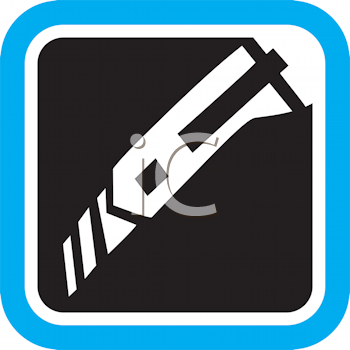 Royalty Free Clipart Image of a Utility Knife