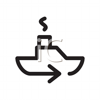 Royalty Free Clipart Image of a Steamship