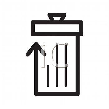 Royalty Free Clipart Image of a Garbage Can