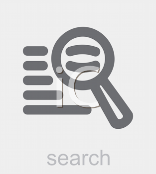 Royalty Free Clipart Image of a Search Icon